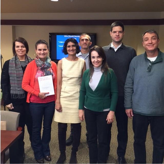 Suja Thomas with Brazilian Judges